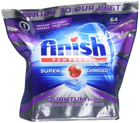 Finish Quantum Max Shine And Protect Dishwasher Detergent Tablets