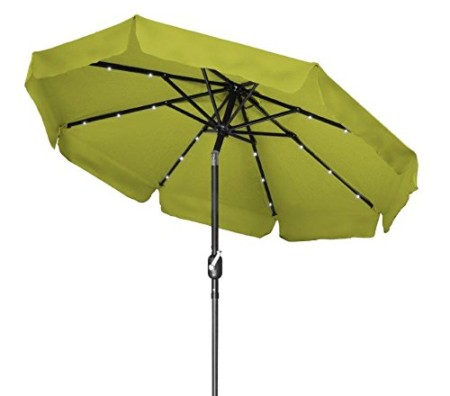 Trademark Innovations Deluxe Solar Powered LED Patio Umbrella