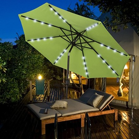 Sundale Outdoor Solar Powered Patio Umbrella