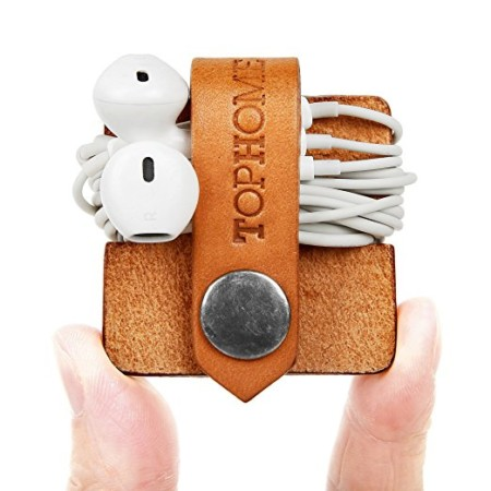 Lot of 10 Leather Earphone Headphone Cable Cord Holder Wrap Winder Organizer