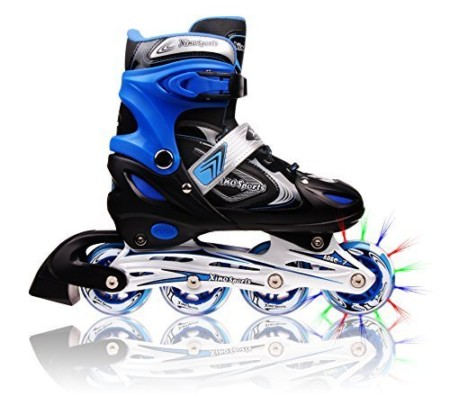 XinoSports Adjustable Inline Skates on a white background