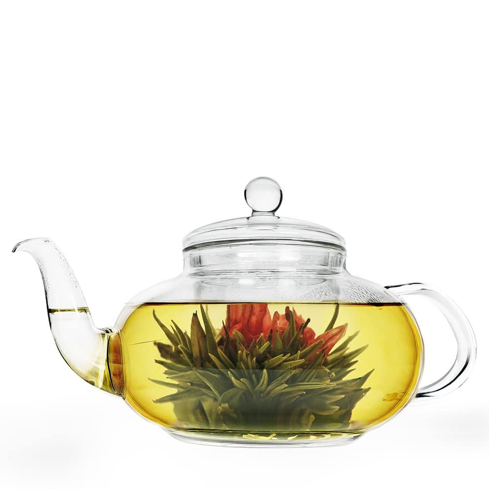 Primula Daisy Borosilicate 40oz Glass Teapot with Glass Infuser