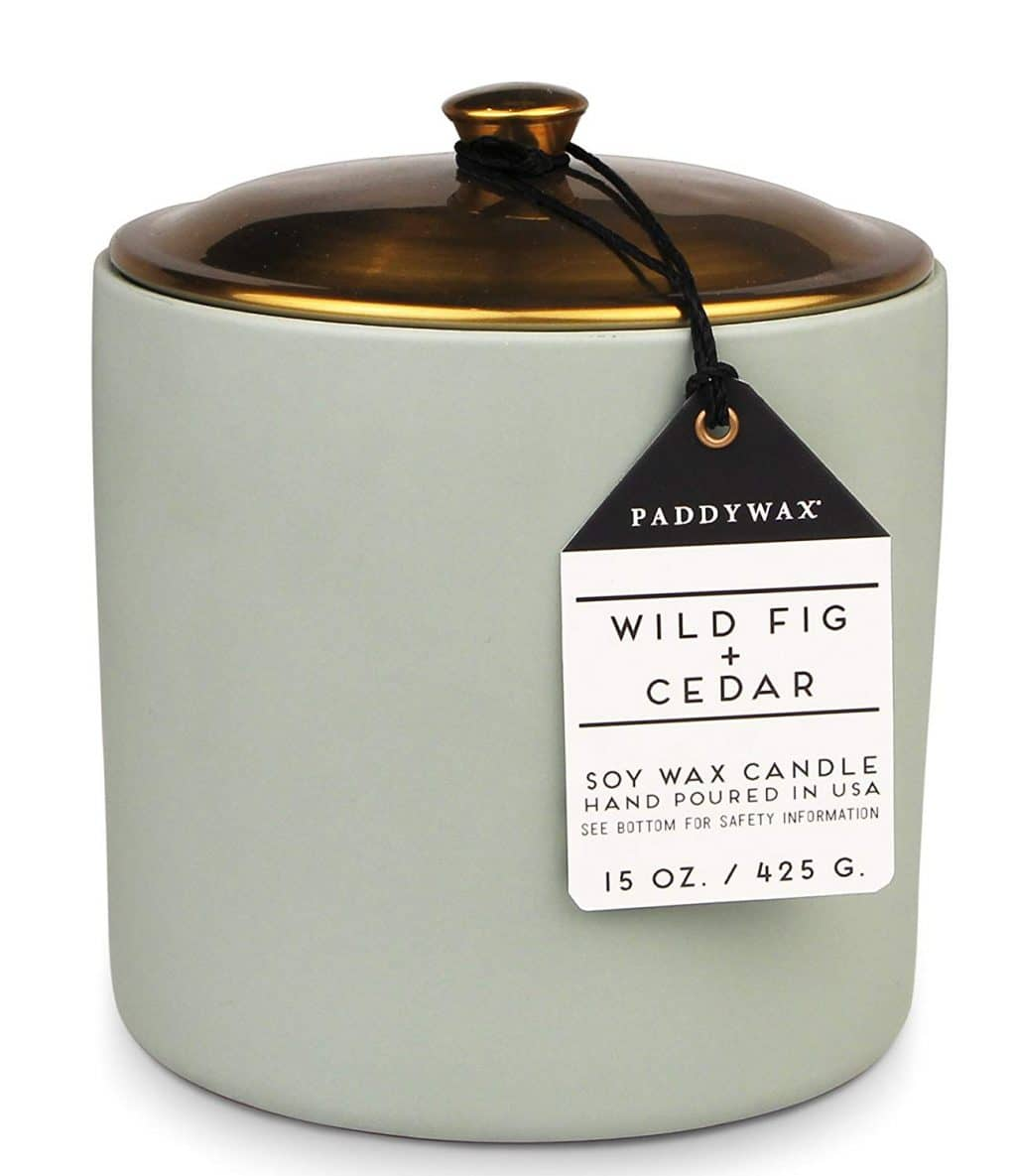 Paddywax Candles Hygge Collection Soy Wax Blend Candle in Ceramic Jar