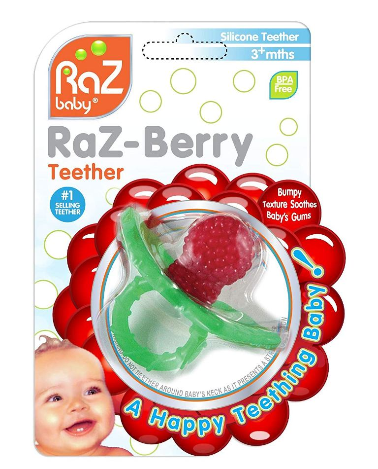 RaZbaby Raz-Berry Silicone Teething Pacifier