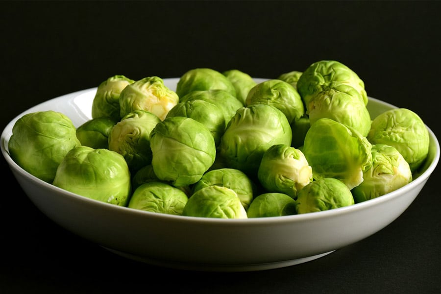 brussel sprouts foods high in folic acid