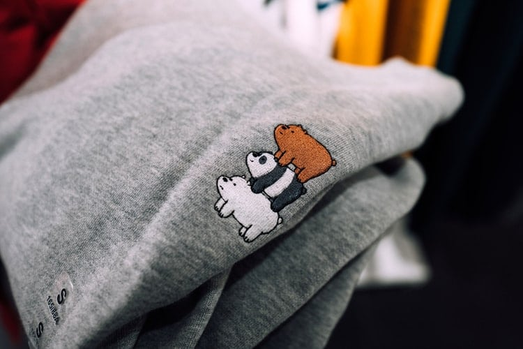gray We Bare Bears printed pajama