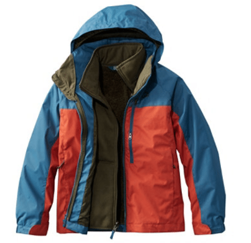 LL bean kids adventure seeker parka