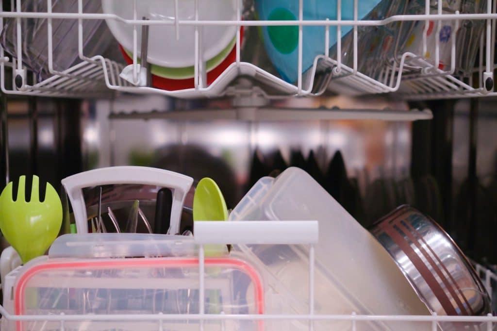 inside of dishwasher machine