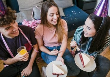 group of friends enjoying birthday party