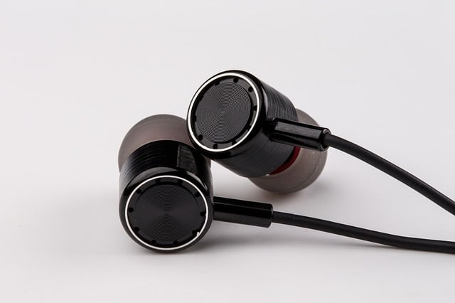 brown headset