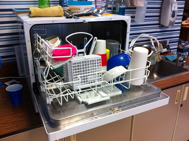 finished dishwasher machine operation